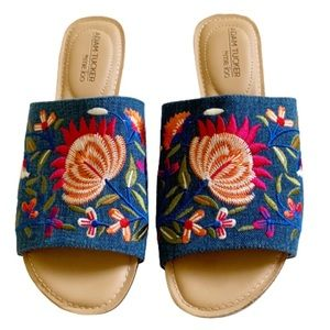 Adam Tucker by Me Too Niko Embroidered Slides
